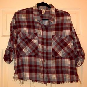 Flannel woman top